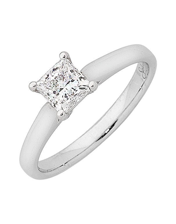 Diamond Ring - 1.00ct Princess Cut Solitaire Engagement Ring - Salera's Melbourne, Victoria and Brisbane, Queensland Australia