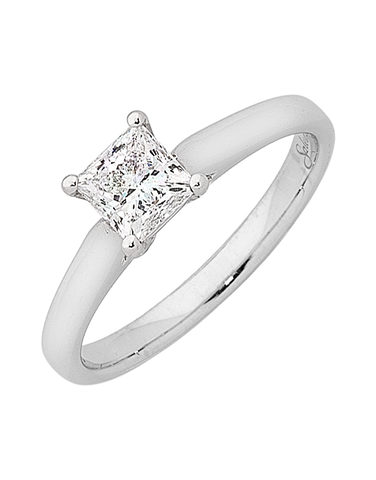 Diamond Ring - 1.00ct Princess Cut Solitaire Engagement Ring