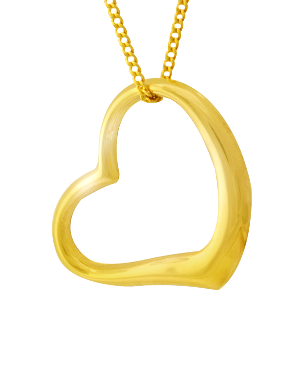 Gold Pendant - Yellow Gold Heart Pendant - 750071 - Salera's Melbourne, Victoria and Brisbane, Queensland Australia