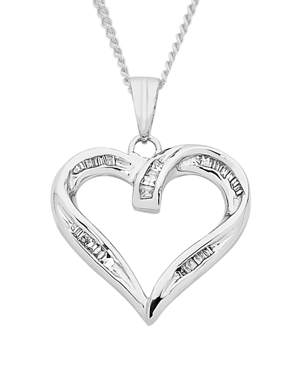Diamond pendant white gold diamond heart pendant 750631 saleras aloadofball