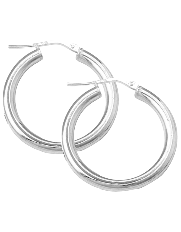 Silver Earrings - Sterling Silver Hoop Earrings - 750719 - Salera's Melbourne, Victoria and Brisbane, Queensland Australia