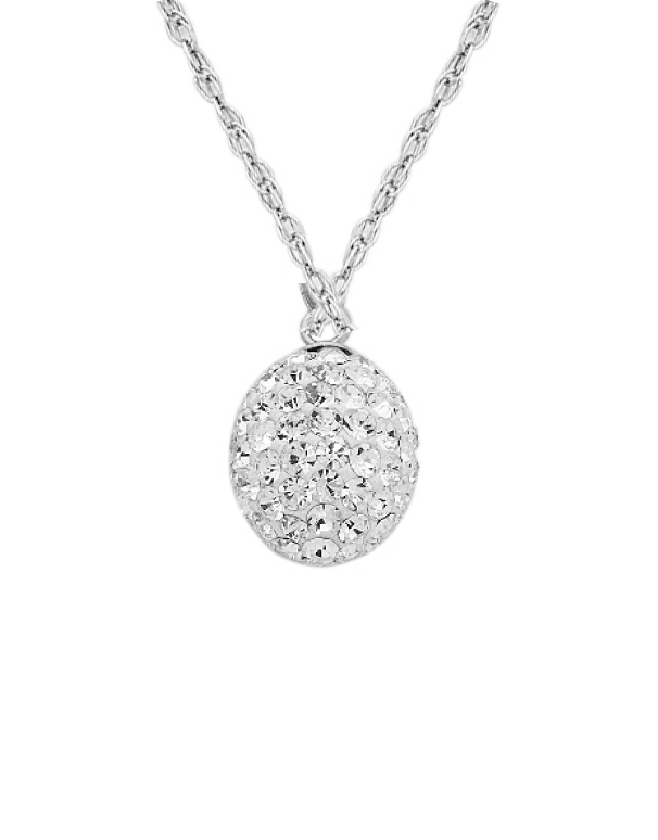 Silver Pendant - Sterling Silver Crystal Set Pendant - 750981 - Salera's Melbourne, Victoria and Brisbane, Queensland Australia