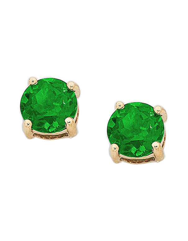 Emerald Studs - 9ct Yellow Gold Emerald Stud Earrings - 751049 - Salera's Melbourne, Victoria and Brisbane, Queensland Australia