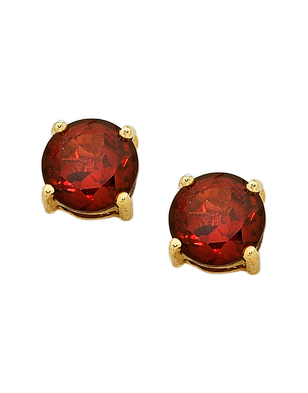 Garnet Earrings - Yellow Gold Garnet Stud Earrings - 751052 - Salera's Melbourne, Victoria and Brisbane, Queensland Australia