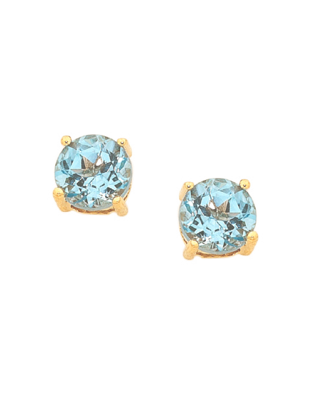 Blue Topaz Earrings - Yellow Gold Blue Topaz Stud Earrings - 751053 - Salera's Melbourne, Victoria and Brisbane, Queensland Australia