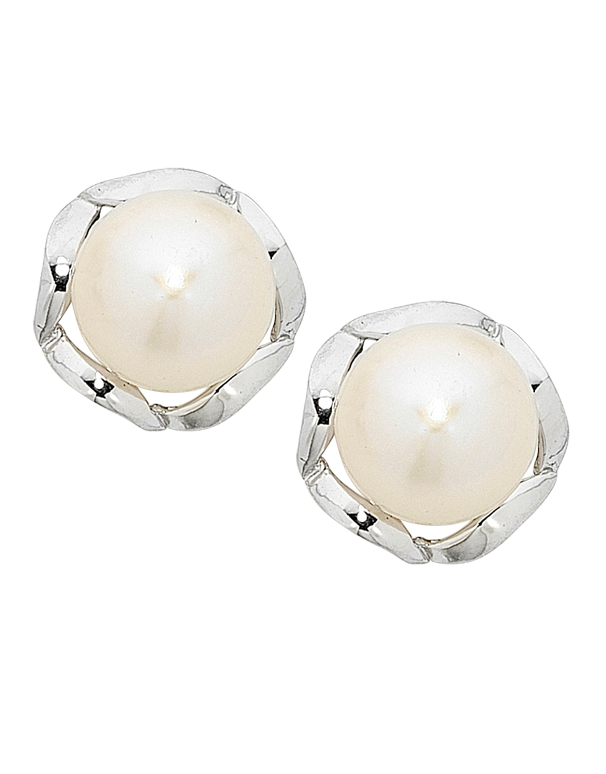 Pearl Earrings -  Sterling Silver Pearl Stud Earrings - 751102 - Salera's Melbourne, Victoria and Brisbane, Queensland Australia