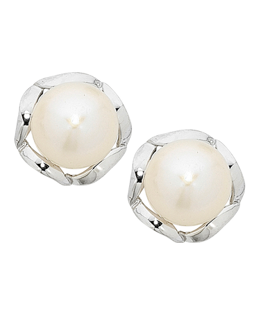 Pearl Earrings -  Sterling Silver Pearl Stud Earrings - 751102