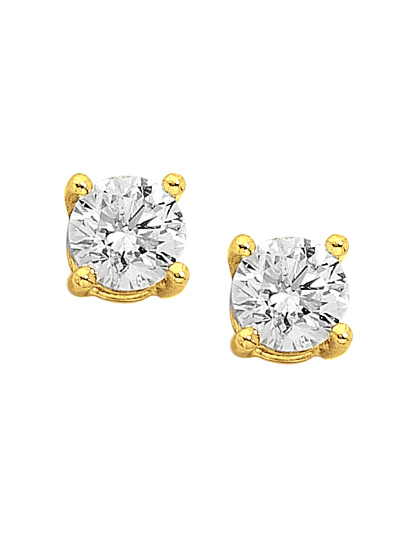 Diamond Studs - One Carat Diamond Screw-Back Studs - 751581 - Salera's Melbourne, Victoria and Brisbane, Queensland Australia