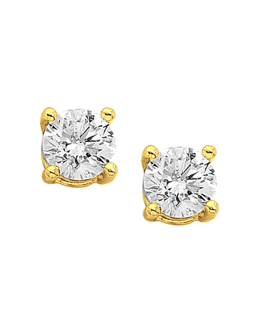 Diamond Studs - 9ct Yellow Gold Diamond Stud Earrings - 701969