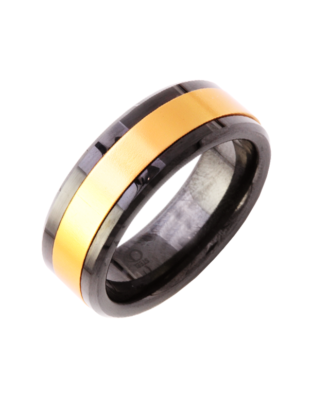 S-Steel Men's Steel & Ceramic Ring - 751804 - Salera's Melbourne, Victoria and Brisbane, Queensland Australia