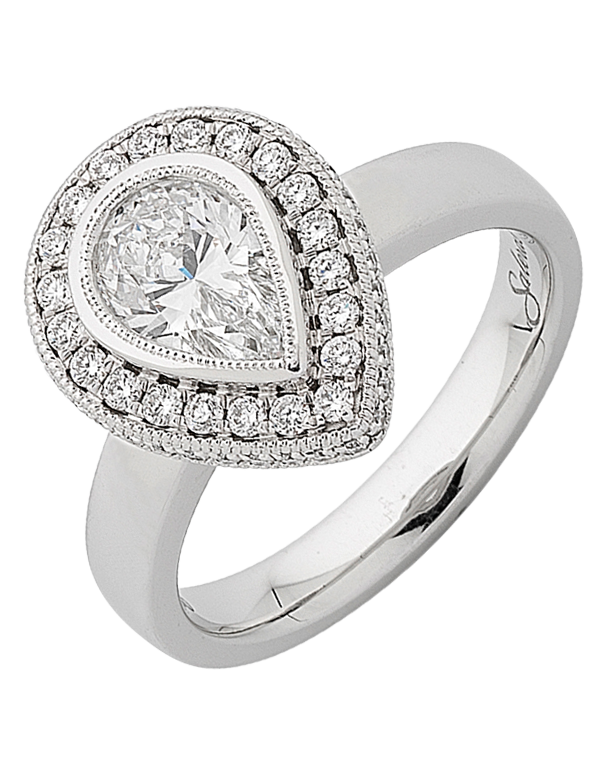 Diamond Ring - Pear Cut Halo Engagement Ring - 751847 - Salera's Melbourne, Victoria and Brisbane, Queensland Australia