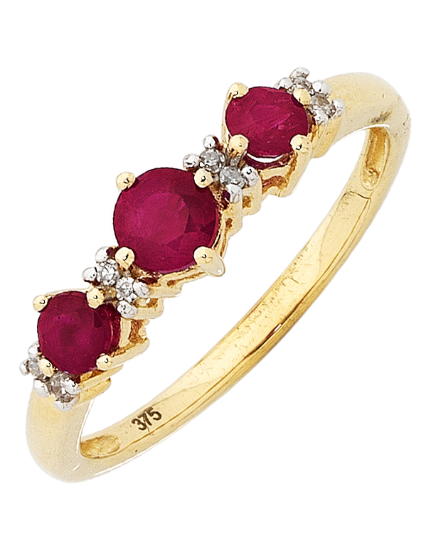 Ruby Ring - Yellow Gold Ruby & Diamond Ring - 753701 - Salera's Melbourne, Victoria and Brisbane, Queensland Australia