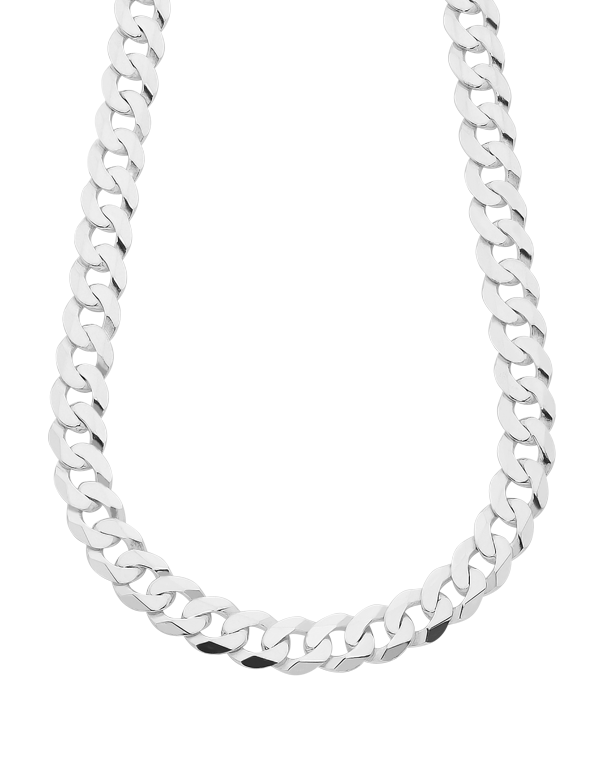 Silver Chain Mens 55cm Curb 753711 Saleras