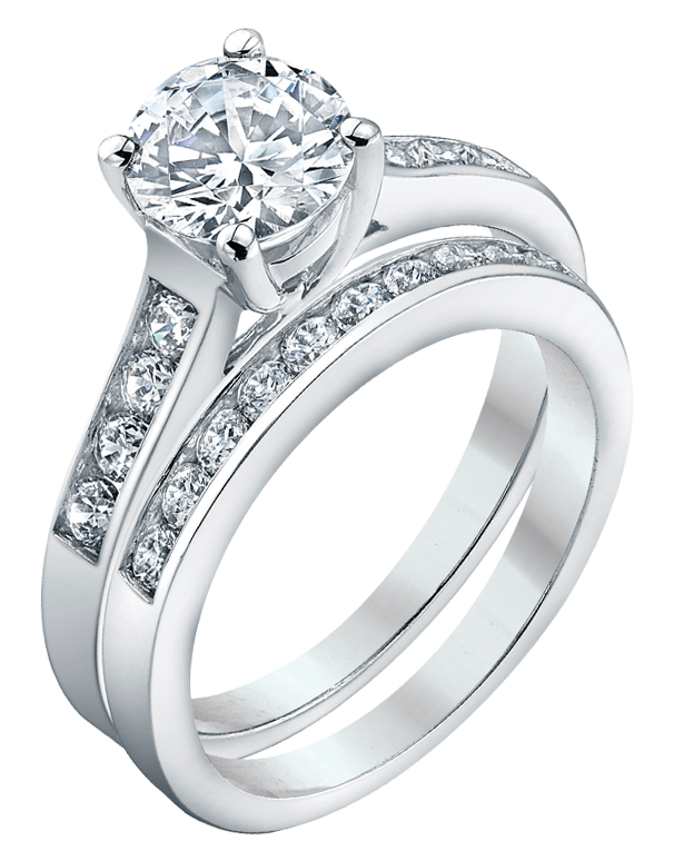 Bridal Set - White Gold Brilliant Cut Diamond Bridal Set - 753722 - Salera's Melbourne, Victoria and Brisbane, Queensland Australia