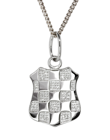 Sterling Silver Pendant - Sterling Silver Croatian Crest Pendant - Large - 753727