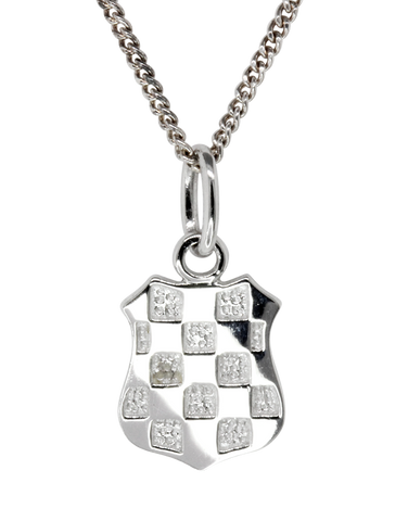 Sterling Silver Pendant - Sterling Silver Croatian Crest Pendant - Small  - 753728
