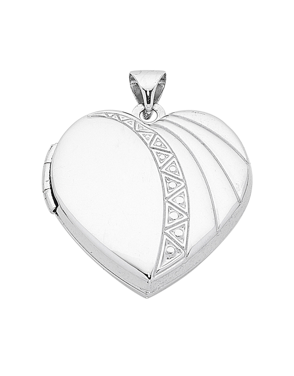 Gold pendant 9ct white gold heart locket 753760 saleras mozeypictures Images