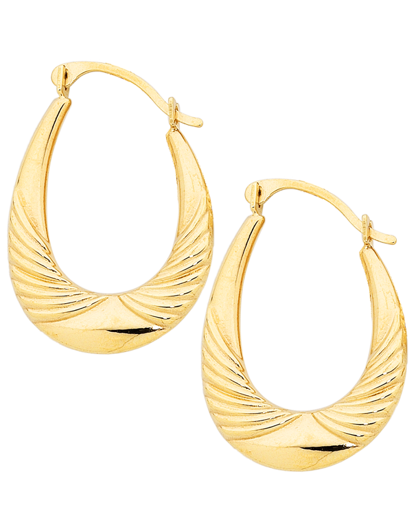 Gold Earrings - 9ct Yellow Gold Hoop Earrings - 753777 - Salera's Melbourne, Victoria and Brisbane, Queensland Australia