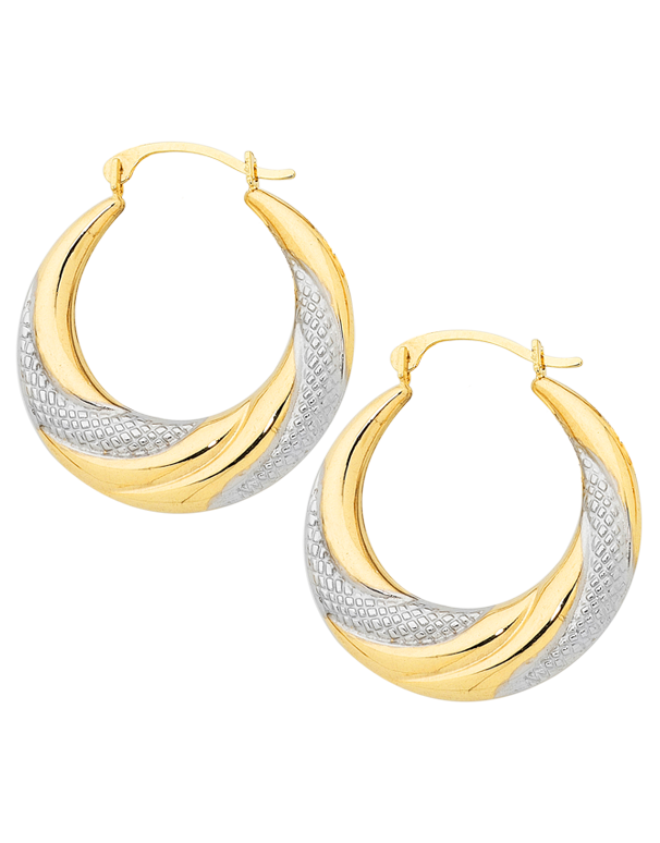 Gold Earrings Tone Tone Gold Hoop Earrings