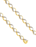 Diamond Bracelet - 9ct Two Tone Diamond Bracelet - 753801 - Salera's Melbourne, Victoria and Brisbane, Queensland Australia - 1