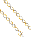 Diamond Bracelet - 9ct Two Tone Diamond Bracelet - 753801 - Salera's Melbourne, Victoria and Brisbane, Queensland Australia - 2