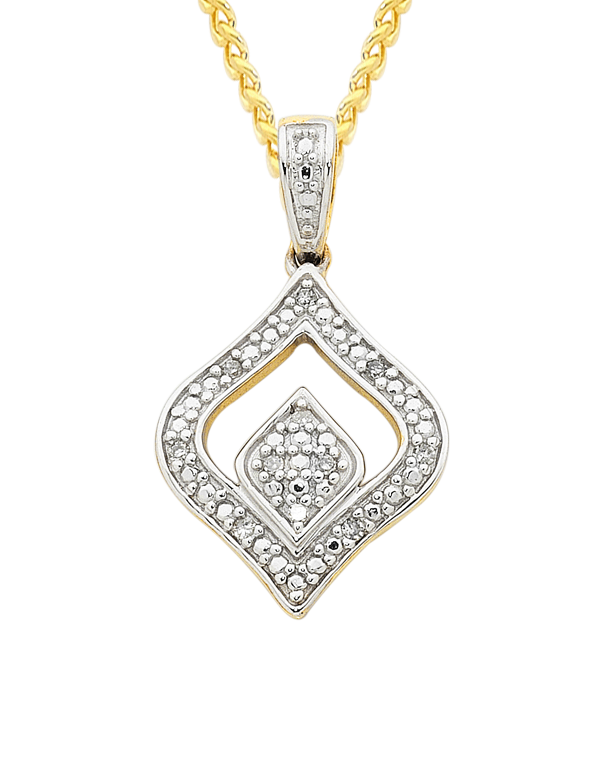 Diamond Pendant - Two Tone Gold Diamond Pendant - 753807 - Salera's Melbourne, Victoria and Brisbane, Queensland Australia