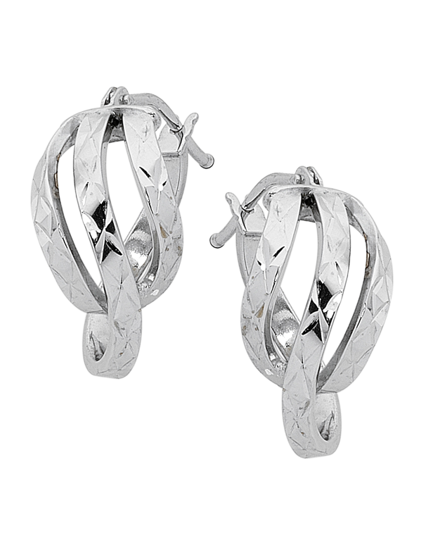 Gold Earrings - 9ct White Gold Hoop Earrings - 754041 - Salera's Melbourne, Victoria and Brisbane, Queensland Australia