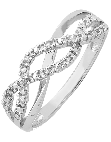 Diamond Ring - White Gold Diamond Dress Ring - 754085