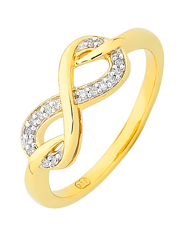 Diamond Ring - Yellow Gold Infinity Diamond Ring - 754107 - Salera's Melbourne, Victoria and Brisbane, Queensland Australia