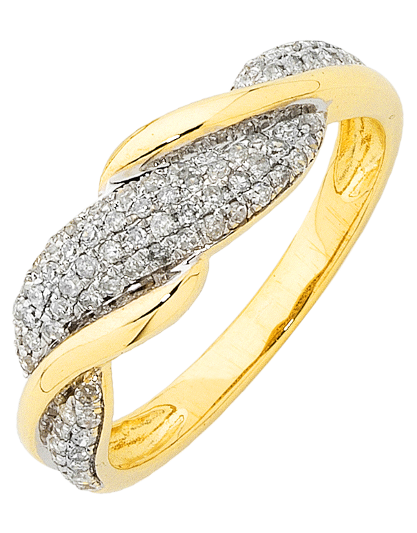 Diamond Ring - Yellow Gold Diamond Ring - 754202 - Salera's Melbourne, Victoria and Brisbane, Queensland Australia