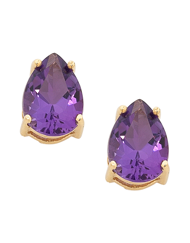 Amethyst Earrings - 9ct Yellow Gold Amethyst Earrings - 754276 - Salera's