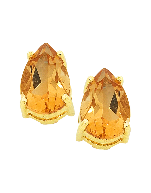 Citrine Earrings - Yellow Gold Citrine Stud Earrings - 754277 - Salera's Melbourne, Victoria and Brisbane, Queensland Australia