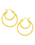 Gold Fusion Earrings - Gold Hoop Earrings - 754399 - Salera's Melbourne, Victoria and Brisbane, Queensland Australia - 1