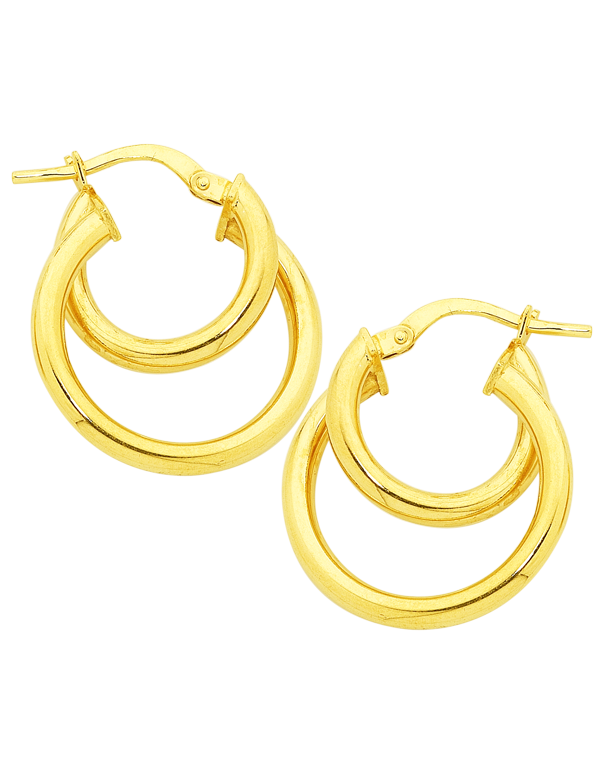 Gold Fusion Earrings - Gold Hoop Earrings - 754400 - Salera's Melbourne, Victoria and Brisbane, Queensland Australia - 1