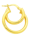 Gold Fusion Earrings - Gold Hoop Earrings - 754400 - Salera's Melbourne, Victoria and Brisbane, Queensland Australia - 2