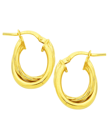 Gold Fusion Earrings - Gold Hoop Earrings - 754401