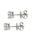 Diamond Studs - 0.50ct White Gold Diamond Studs - Salera's Melbourne, Victoria and Brisbane, Queensland Australia - 2