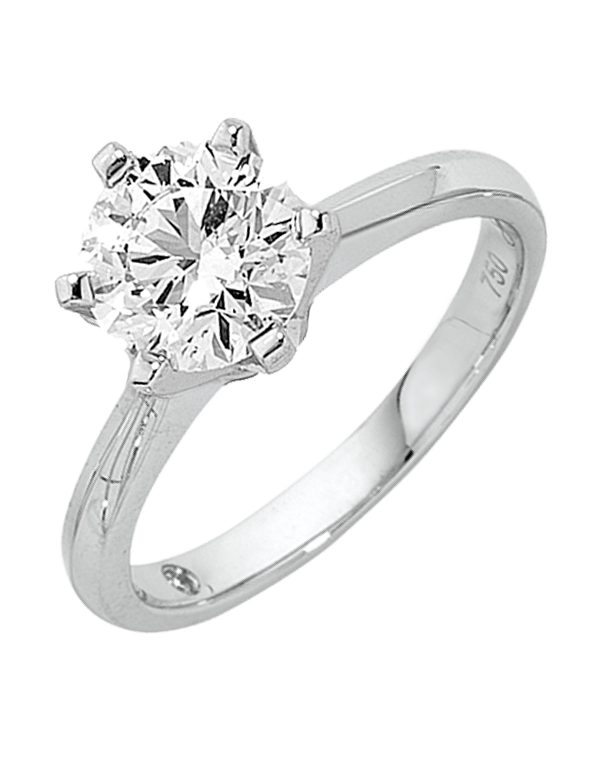 Diamond Ring - 1.00ct Round Brilliant Solitaire Engagement Ring - Salera's Melbourne, Victoria and Brisbane, Queensland Australia