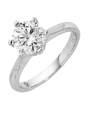 Diamond Ring - 0.80ct Round Brilliant Solitaire Engagement Ring