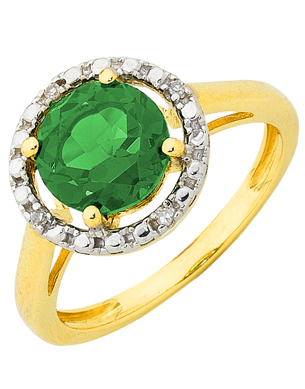 Emerald Ring - Emerald and Diamond Ring - 755074 - Salera's Melbourne, Victoria and Brisbane, Queensland Australia
