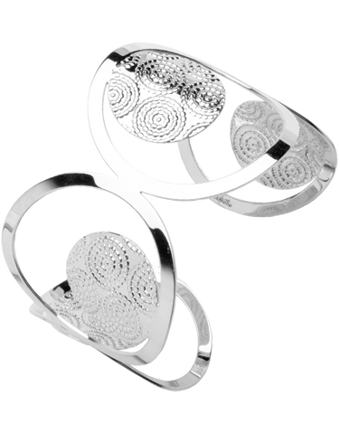 Mode d'Amelie - Sterling Silver Cuff Bangle - 755747