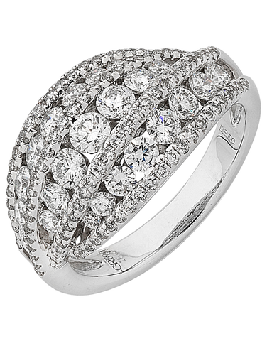 Diamond Ring - White Gold Diamond Dress Ring - 755849