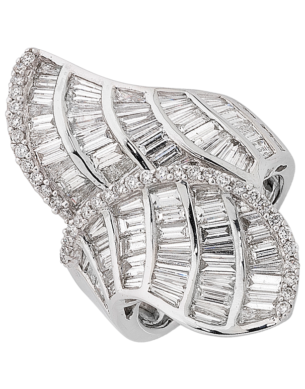Diamond Ring - White Gold Diamond Dress Ring - 756033 - Salera's