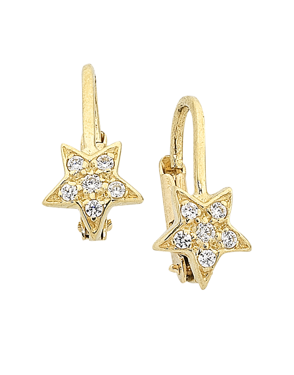 Gold Earrings - 9ct Yellow Gold CZ Star Earrings - 756193 - Salera's Melbourne, Victoria and Brisbane, Queensland Australia