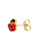 Gold Earrings - 9ct Yellow Gold CZ Set Ladybird Earrings - 756196 - Salera's Melbourne, Victoria and Brisbane, Queensland Australia - 2