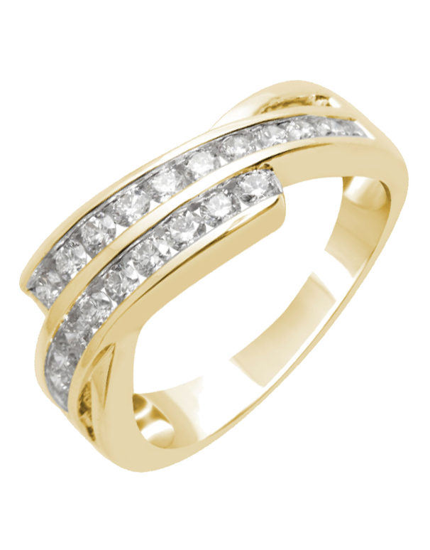 Diamond Ring - Yellow Gold Channel Set Diamond Ring - 756351 - Salera's Melbourne, Victoria and Brisbane, Queensland Australia