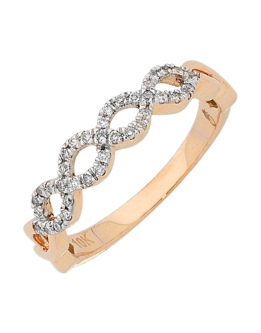 Diamond Ring - Rose Gold Diamond Ring - 756419