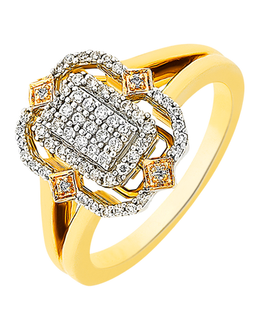 Diamond Ring - Yellow Gold Diamond Ring - 756473