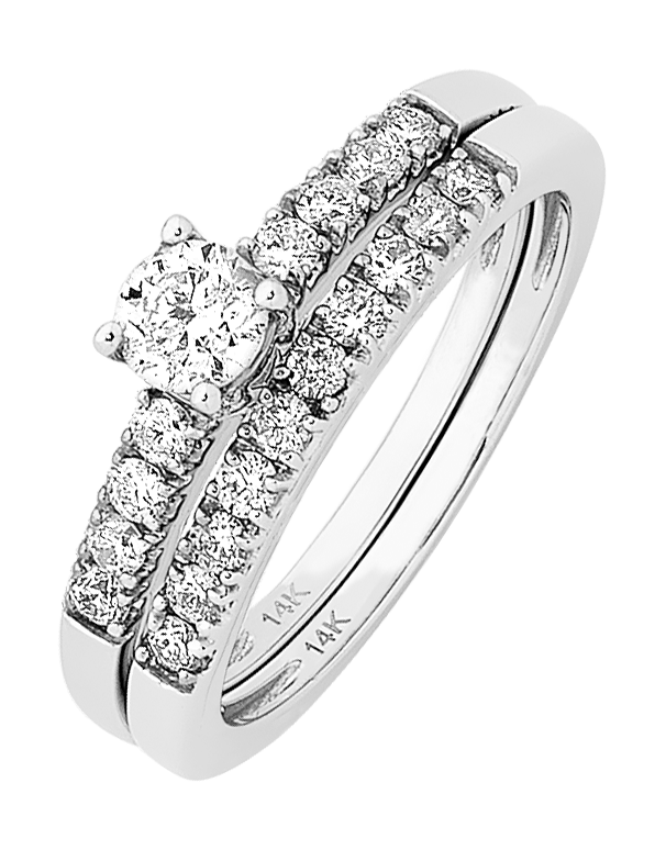 Bridal Set - White Gold Diamond Bridal Set Rings - 756646 - Salera's Melbourne, Victoria and Brisbane, Queensland Australia