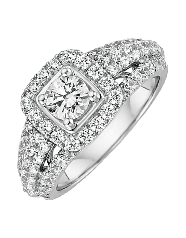 Diamond Ring - White Gold Diamond Engagement Ring - 756647 - Salera's Melbourne, Victoria and Brisbane, Queensland Australia